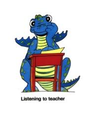 Dina Listening To Teacher